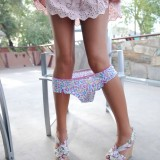Carmen loses her cute little panties out on the patio